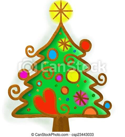 Dibujos De Arboles De Navidad Pintados.Pintura Arbol Navidad Garabato
