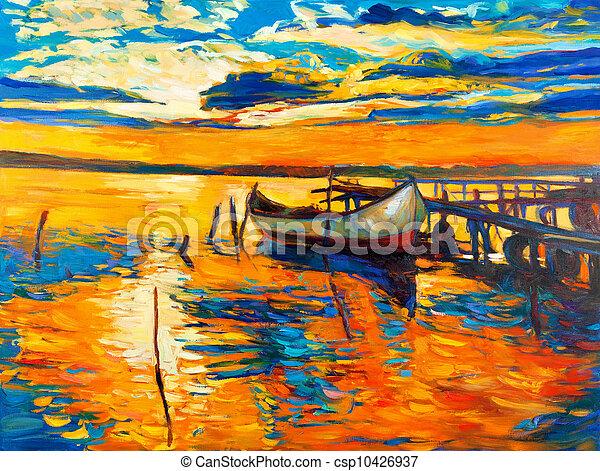pintura óleo - csp10426937