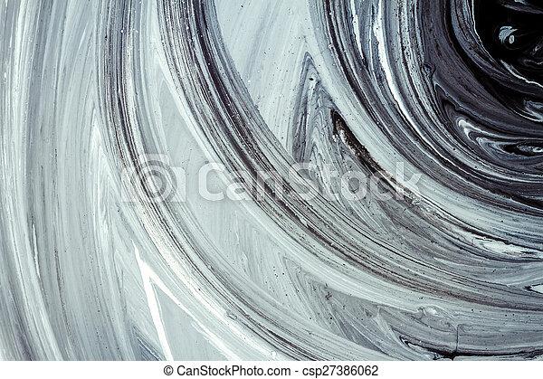 Pintura acrílica abstracta - csp27386062