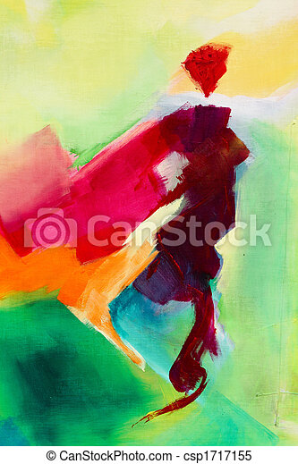 Pintura abstracta - csp1717155