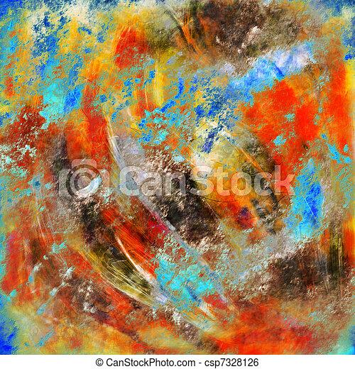 Pintura abstracta - csp7328126