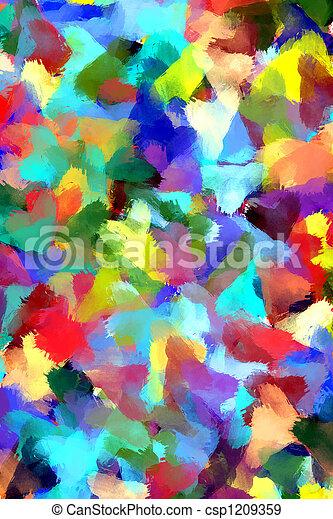 La pintura abstracta es de fondo - csp1209359