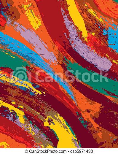 pintura abstrata, fundo - csp5971438