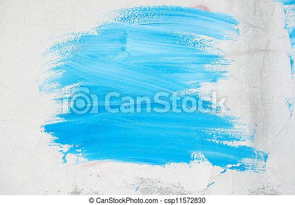 pintura azul, parede - csp11572830