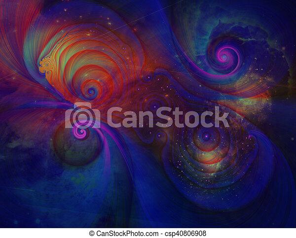 Pintura espacial profunda - csp40806908