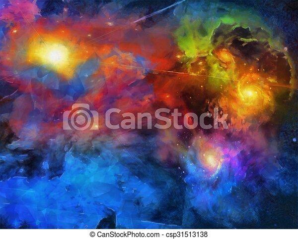 Pintura espacial profunda - csp31513138