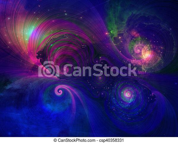 Pintura espacial profunda - csp40358331