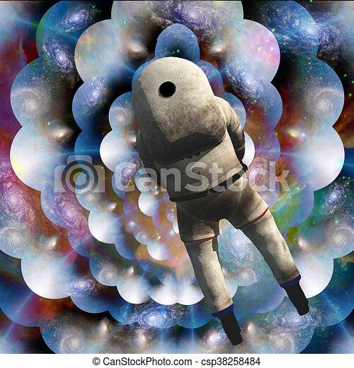 Pintura espacial profunda - csp38258484