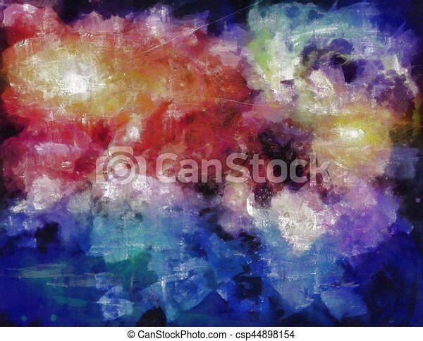 Pintura espacial profunda - csp44898154