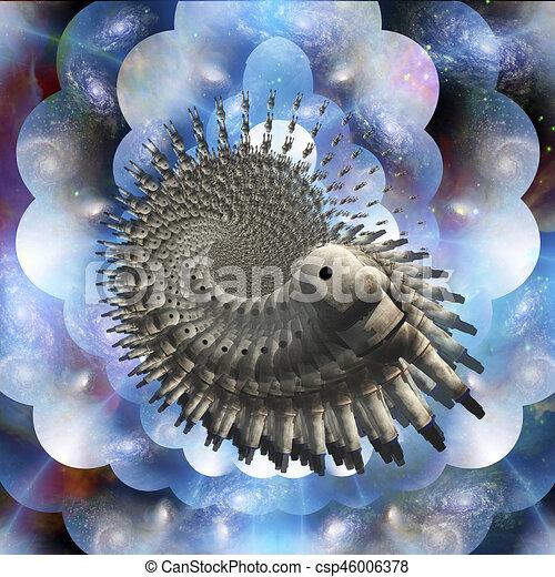 Pintura espacial profunda - csp46006378