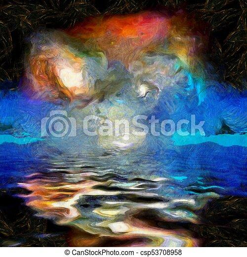 Pintura espacial profunda - csp53708958
