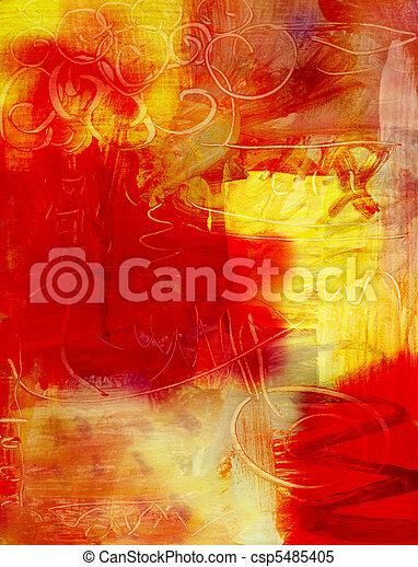 Trasfondo de pintura acrílica abstracta - csp5485405