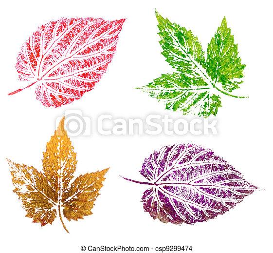 Pintura, salto, hojas. Aceite, plano de fondo, resumen, aislado ...