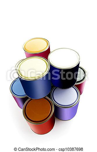 Selección de latas de pintura - csp10387698