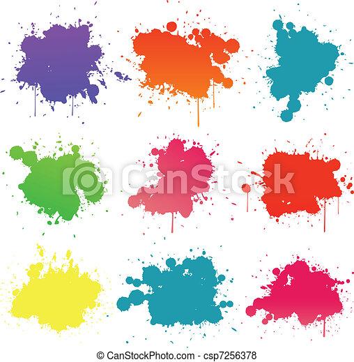pintura, splat, cobrança - csp7256378