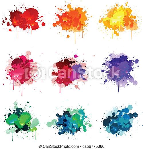 pintura, splat - csp6775366