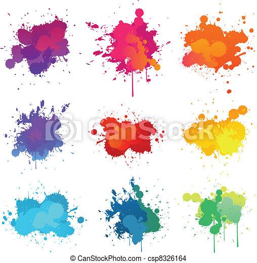 pintura, splat - csp8326164