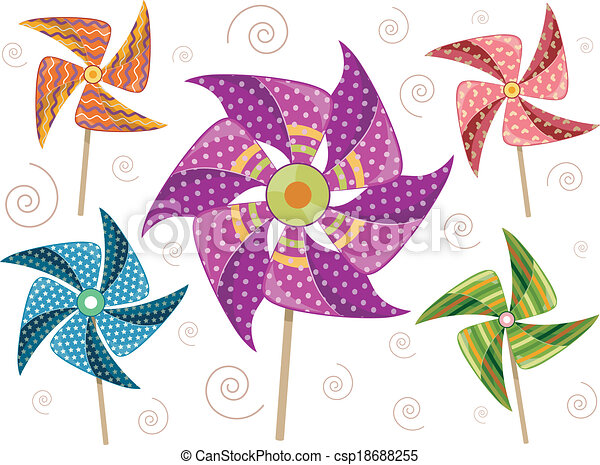 Pinwheel Elements - csp18688255