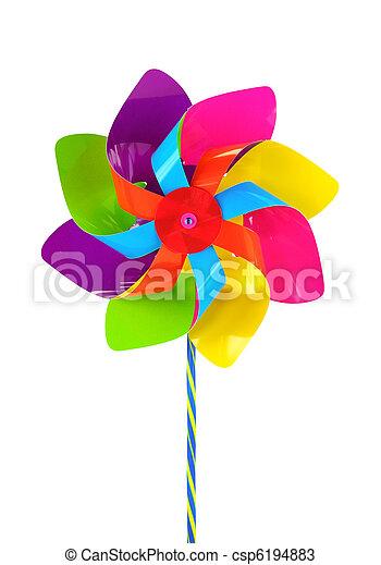 pinwheel, farvet - csp6194883