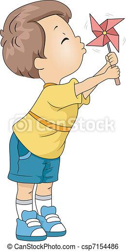 Pinwheel Kid - csp7154486