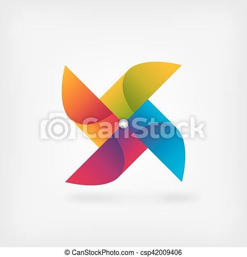 pinwheel symbol in rainbow colors - csp42009406