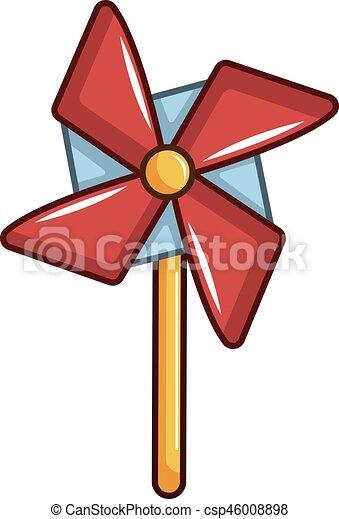 Pinwheel toy icon, cartoon style - csp46008898