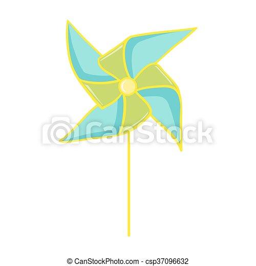 Pinwheel toy illustration - csp37096632