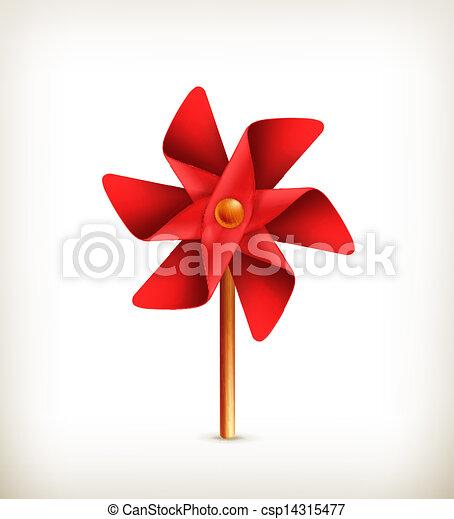 Pinwheel toy, vector - csp14315477