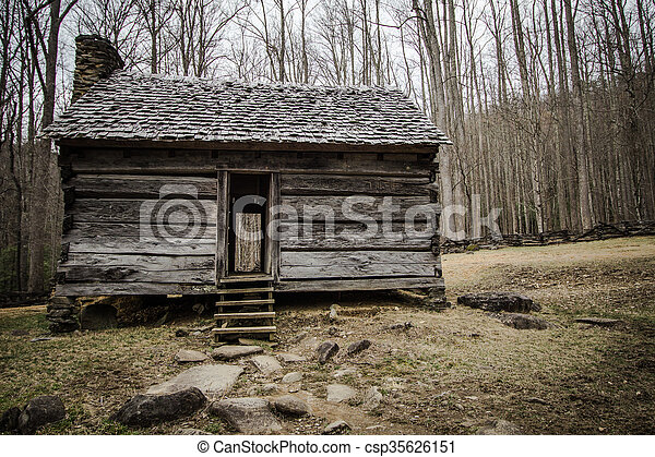 Pioneer Cabin In The Smoky Mountain - csp35626151