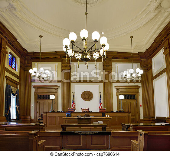 Pioneer Courthouse Courtroom in Portland Oregon Downtown - csp7690614