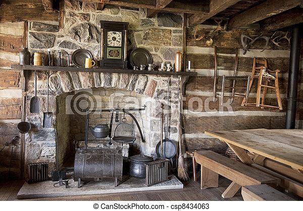 Pioneer Living Room - csp8434063