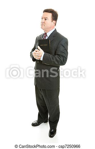 Pious Preacher or Businessman - csp7250966