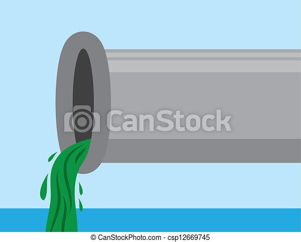 Pipe with Sludge  - csp12669745