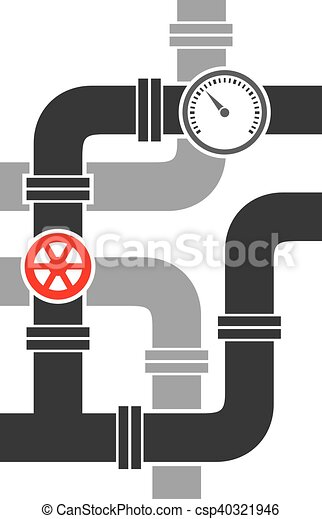 pipe with valve vector illustration - csp40321946