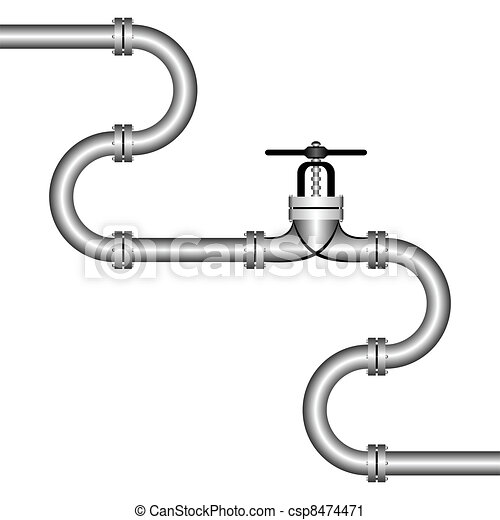 pipeline the zigzag pipeline on a white background on the middle rh canstockphoto co uk water pipeline clipart water pipeline clipart