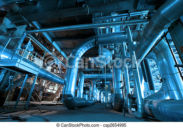 Pipes inside energy plant Pipes inside energy plant Pipes inside - csp2654995