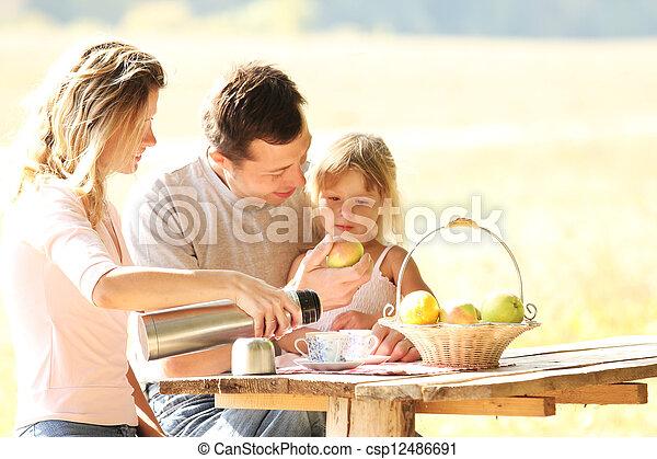 piquenique, família - csp12486691