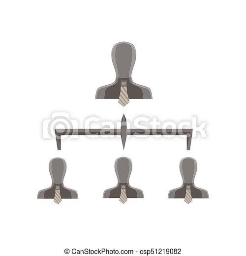 Pirámide Empresa Negocio Nivel Jerarquía Compañía Gráfico Vector Equipo Organización Estructura