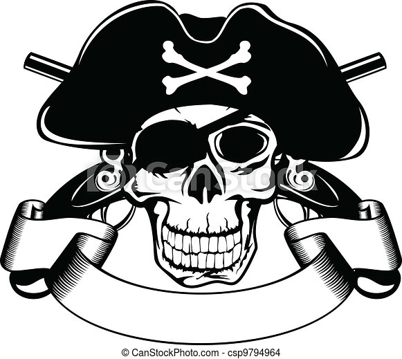 piracy skull - csp9794964