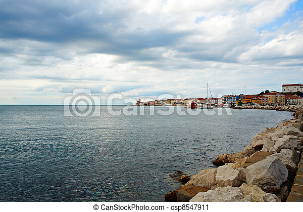 Piran, Slovenia - csp8547911