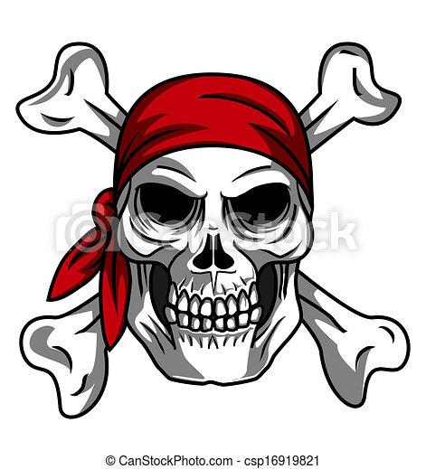 Pirata de cráneo - csp16919821