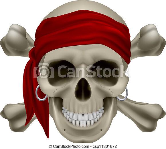 Cráneo de pirata - csp11301872