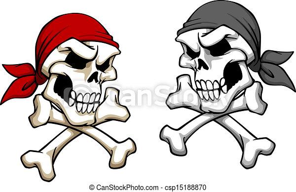 Peligro cráneo pirata - csp15188870