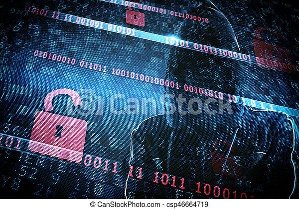 Identidad oculta de un hacker - csp46664719