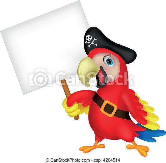 Dibujos de piratas de loro con sí blanco - csp14204514