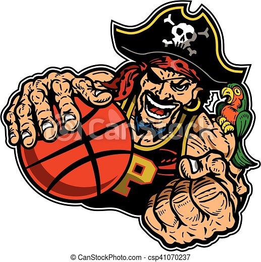 pirate basketball player - csp41070237