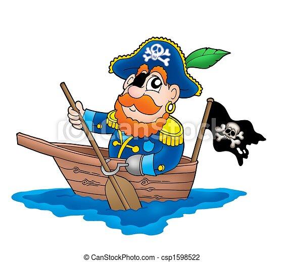 Pirate Bateau Couleur Illustration Bateau Pirate Canstock