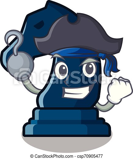 Pirate chess knight in the mascot shape - csp70905477
