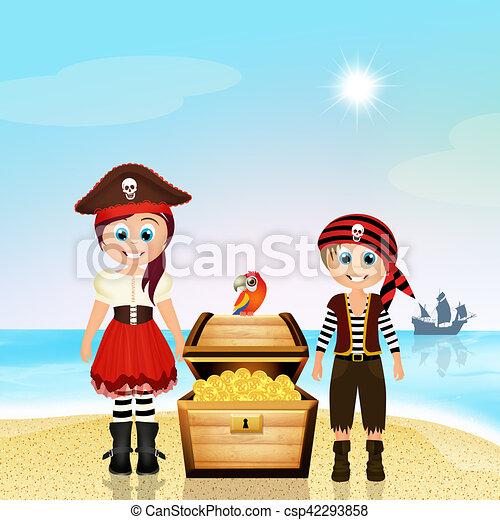 pirate children - csp42293858
