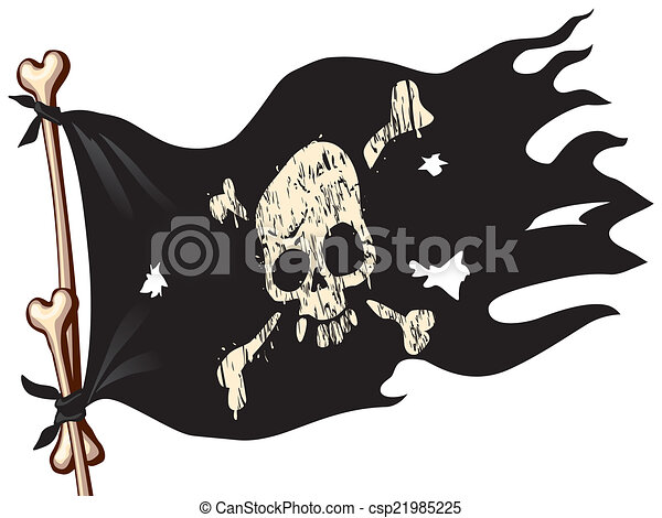 pirate flag waving flag with jolly roger eps8 cmyk organized by rh canstockphoto com pirate flag clipart free pirate ship flag clipart
